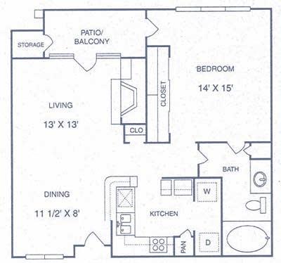 765 sq. ft. CP floor plan