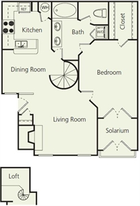 1,041 sq. ft. Cs floor plan