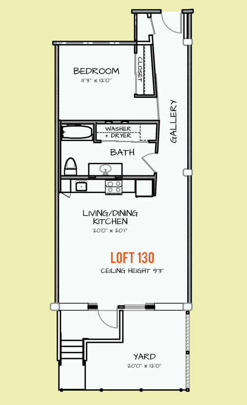 779 sq. ft. 305 floor plan