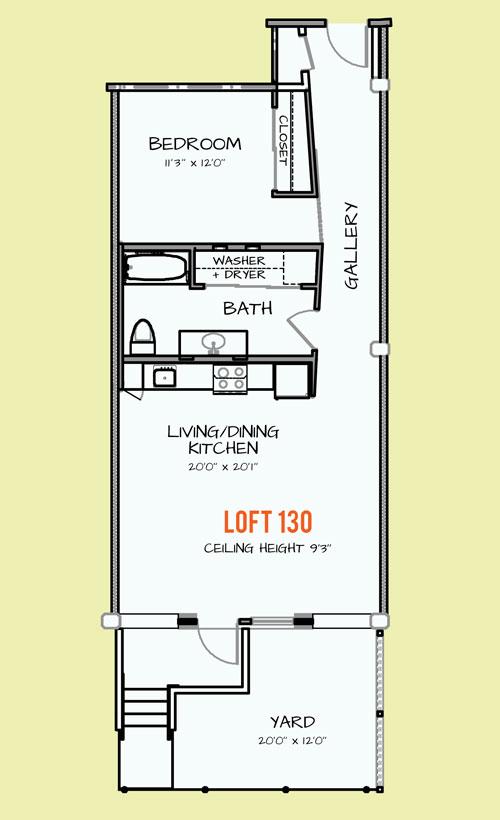 779 sq. ft. 305 floor plan