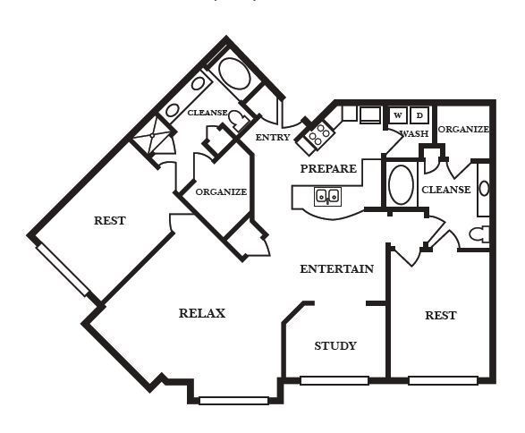 1,363 sq. ft. F floor plan