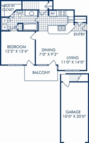 691 sq. ft. A1R floor plan
