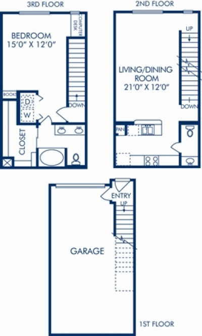 941 sq. ft. D floor plan