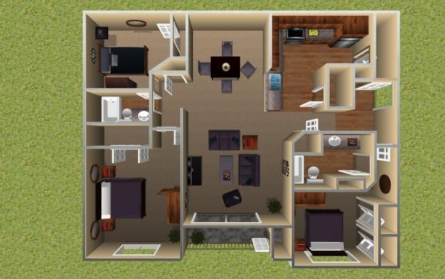 1,219 sq. ft. Aspen floor plan
