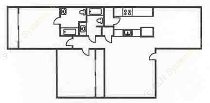1,064 sq. ft. B1 floor plan