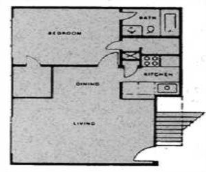 1,250 sq. ft. to 1,300 sq. ft. floor plan