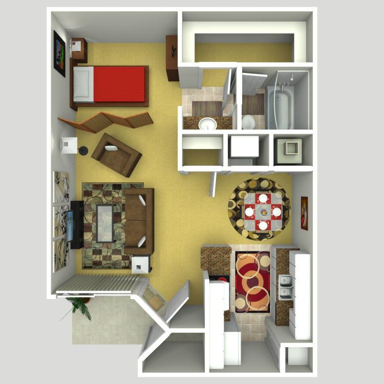 535 sq. ft. A floor plan