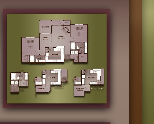1,071 sq. ft. B1/NOTTINGHAM floor plan