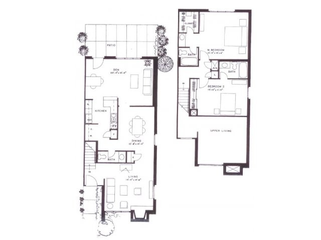 1,636 sq. ft. F16T floor plan