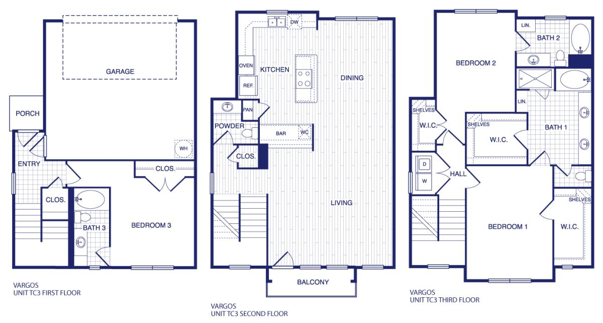 2,121 sq. ft. TC3 floor plan