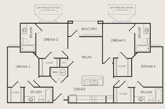 1,434 sq. ft. Concert floor plan