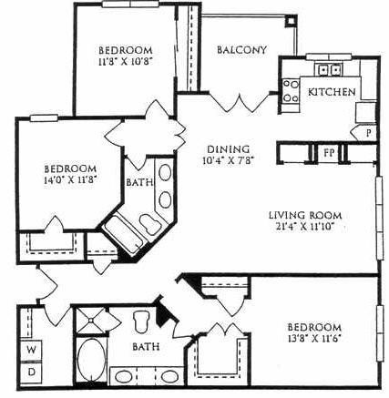 1,454 sq. ft. C1-GAR floor plan