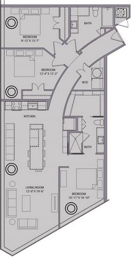 1,451 sq. ft. C1 floor plan