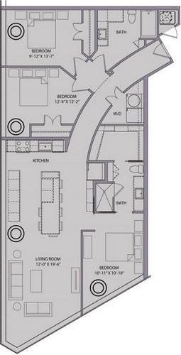 1,451 sq. ft. C1 floor plan