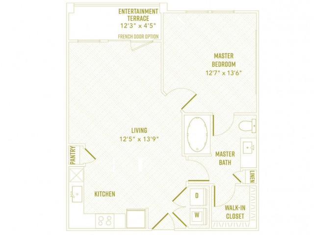 719 sq. ft. Shimmer floor plan