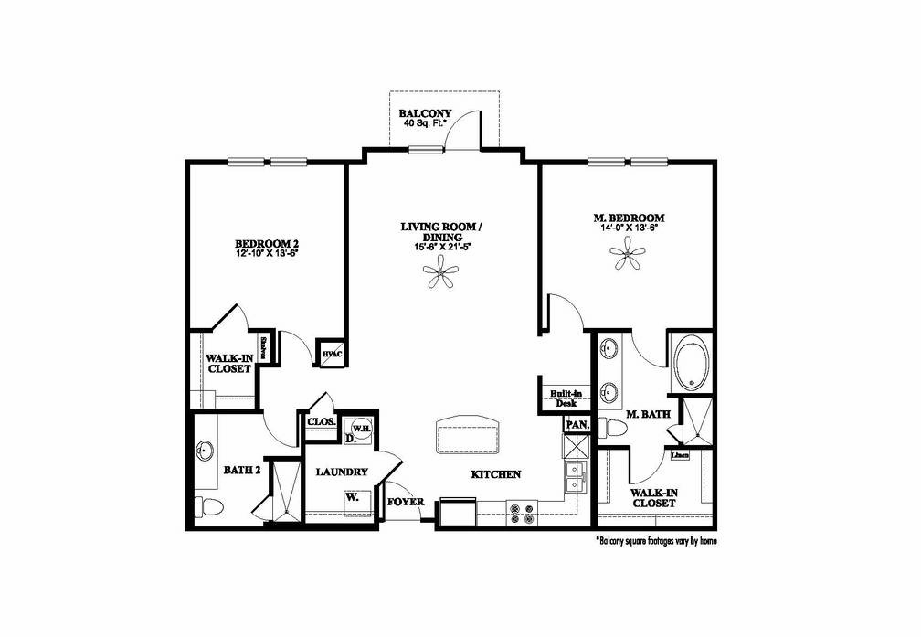 1,345 sq. ft. B3 floor plan