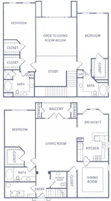 2,514 sq. ft. T2 floor plan