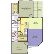 1,026 sq. ft. Magnolia floor plan