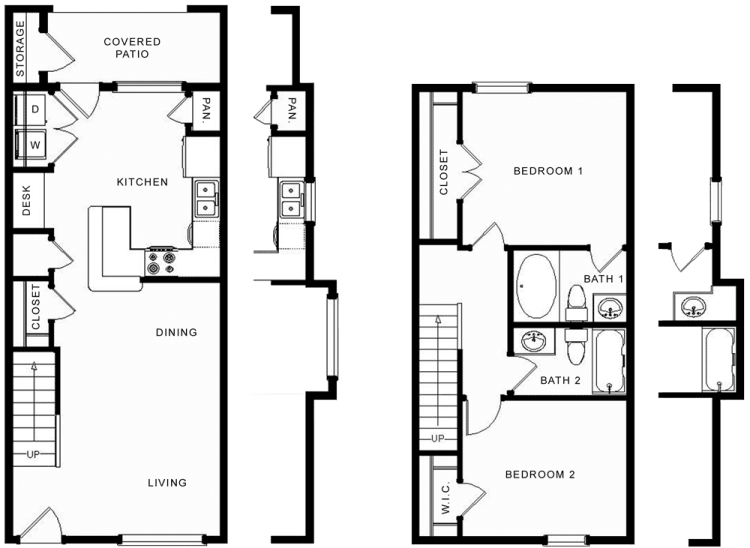 1,035 sq. ft. Longhorn/60% floor plan