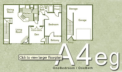 952 sq. ft. A4EG floor plan