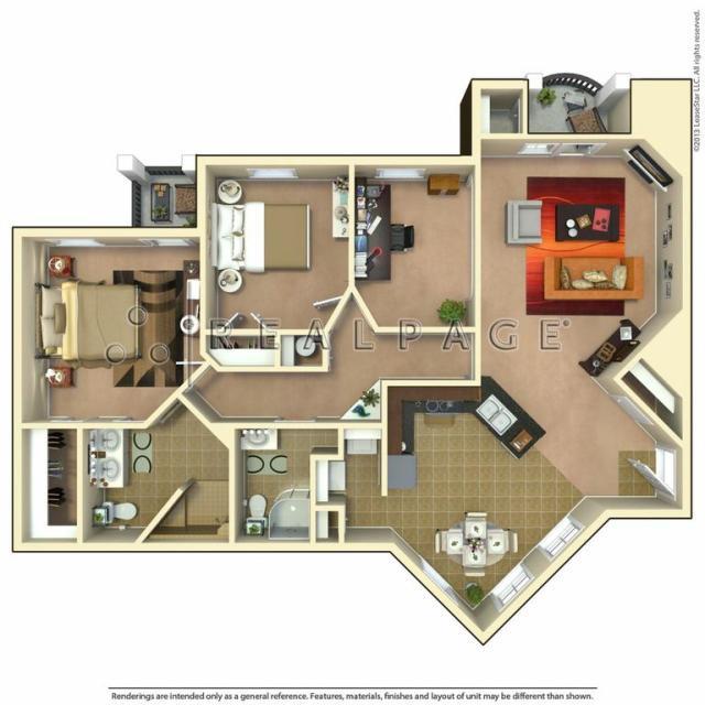 1,300 sq. ft. Homestead w/Study floor plan