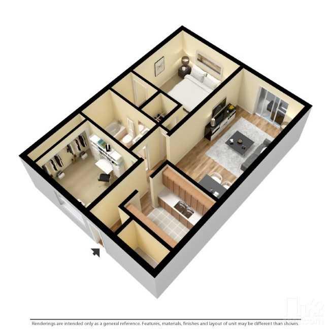850 sq. ft. floor plan