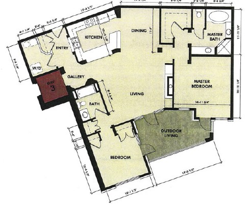 1,511 sq. ft. Trinity floor plan