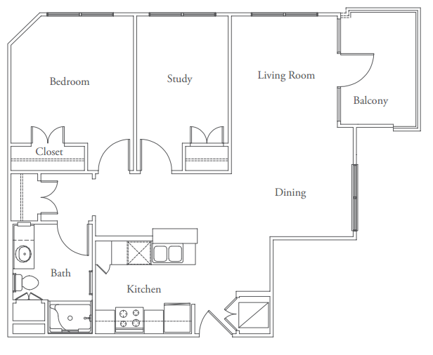 863 sq. ft. Pemberton floor plan