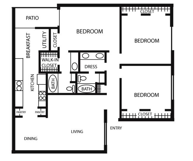 1,379 sq. ft. C2-PHASE 1 floor plan