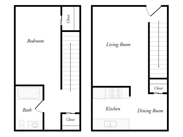 696 sq. ft. floor plan