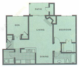 850 sq. ft. SIERRA floor plan