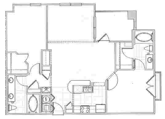 1,133 sq. ft. Antibes floor plan