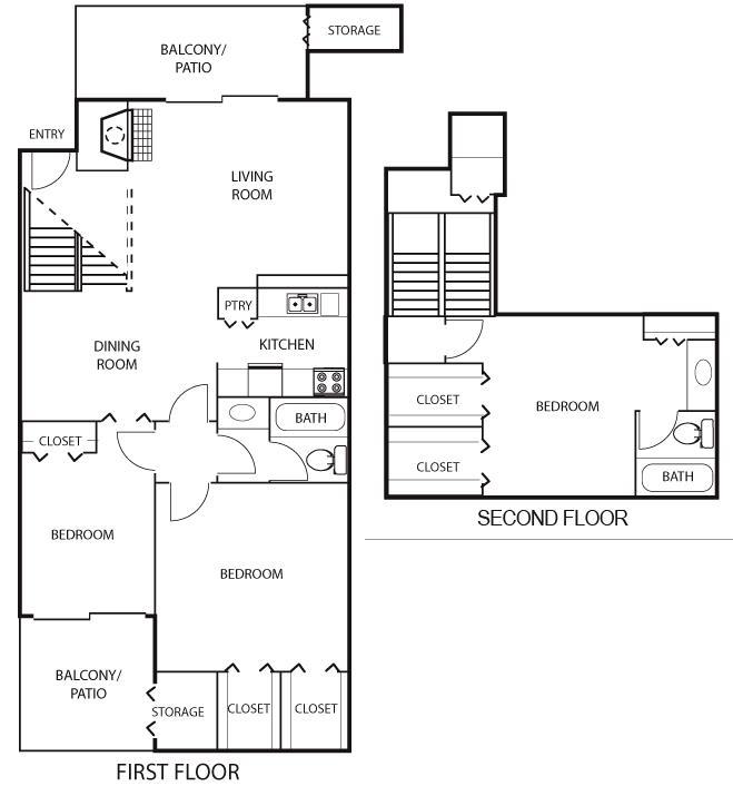 1,466 sq. ft. C1 floor plan