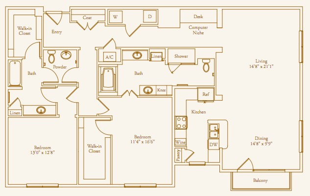 1,815 sq. ft. Boulevard floor plan