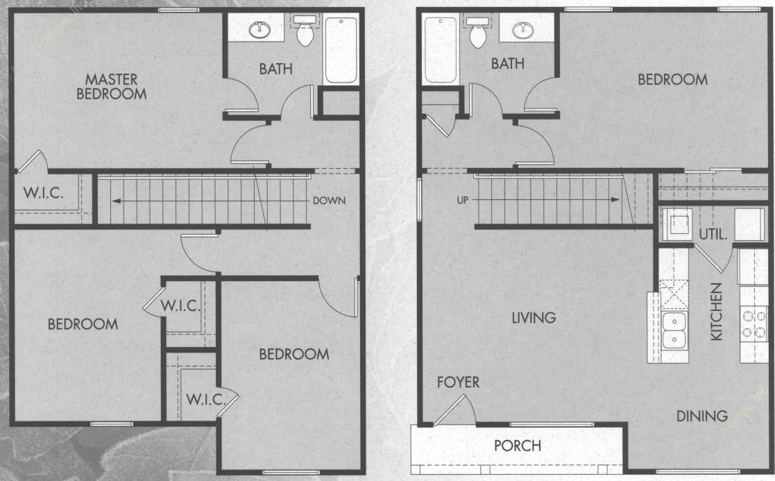 1,500 sq. ft. D1/50% floor plan