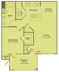 783 sq. ft. A2HC floor plan
