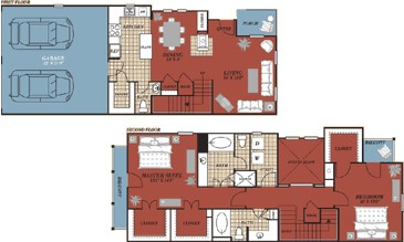 1,719 sq. ft. Barcelona floor plan