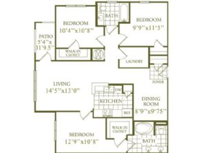 1,249 sq. ft. floor plan