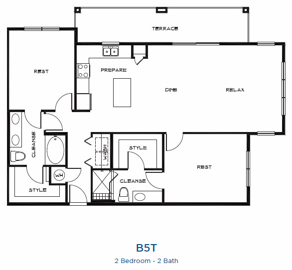 1,439 sq. ft. B5t floor plan