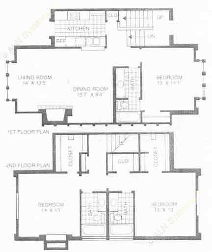 1,425 sq. ft. B3 floor plan