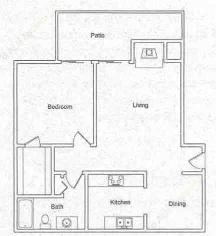 745 sq. ft. floor plan