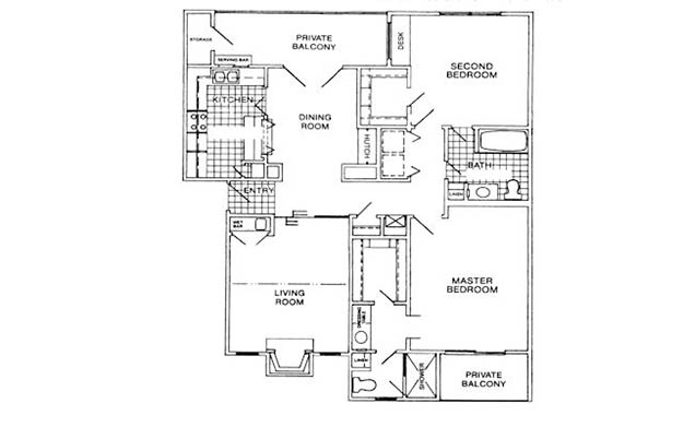 1,175 sq. ft. G floor plan