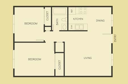 687 sq. ft. floor plan