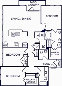 1,557 sq. ft. VALENCIA FIVE floor plan