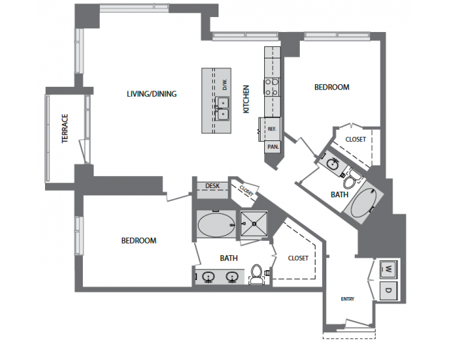 1,493 sq. ft. to 2,016 sq. ft. P floor plan