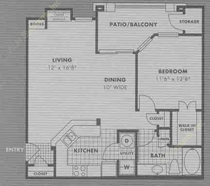 803 sq. ft. A5 floor plan