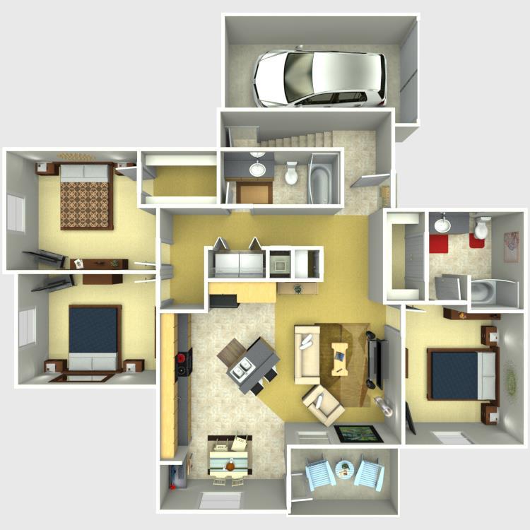 1,379 sq. ft. Grand floor plan
