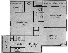 930 sq. ft. floor plan