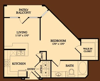 661 sq. ft. Guadalupe floor plan