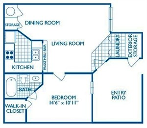 744 sq. ft. Rio floor plan